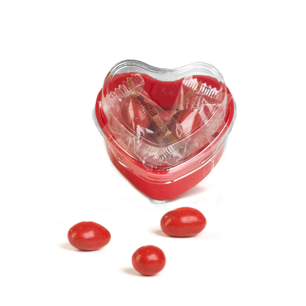 Sugared Almonds in heart pot, Papa x 6